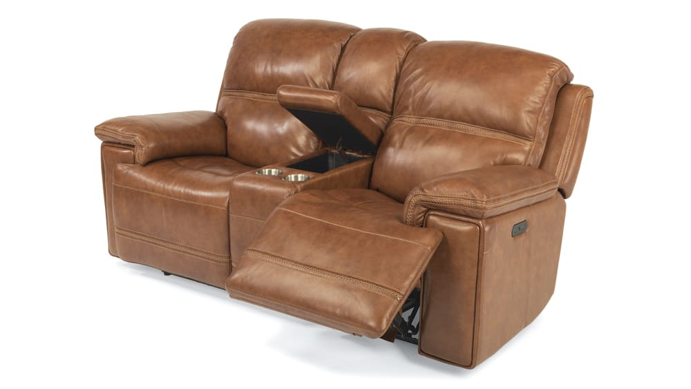 Widely Used Expedition Brown Power Reclining Sofas Regarding Secretariat Brown Power Reclining Loveseat W/console (View 7 of 20)
