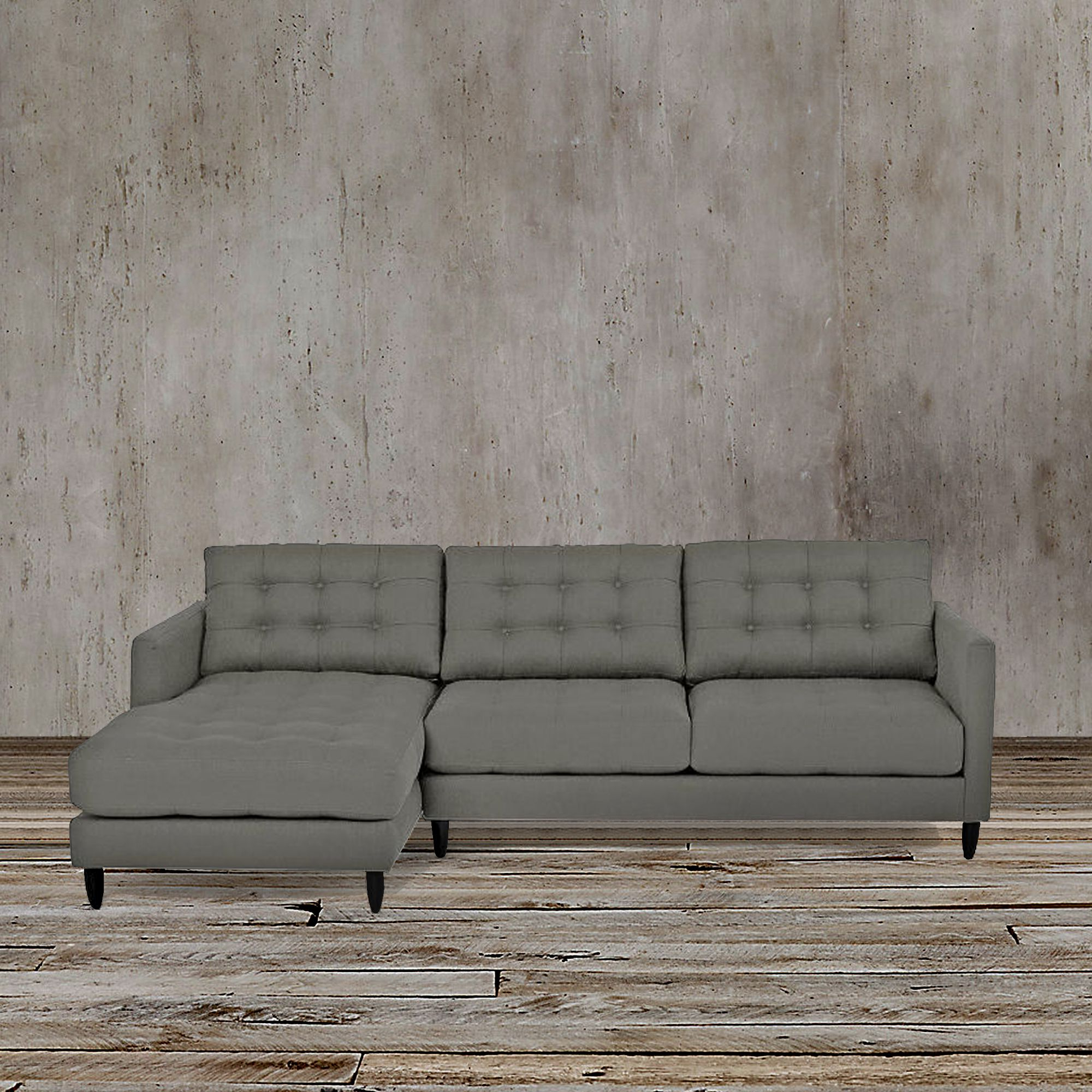 Widely Used Florence Mid Century Modern Left Sectional Sofas Within This Sleek And Functional Gray Left Arm Facing Sectional (View 4 of 20)