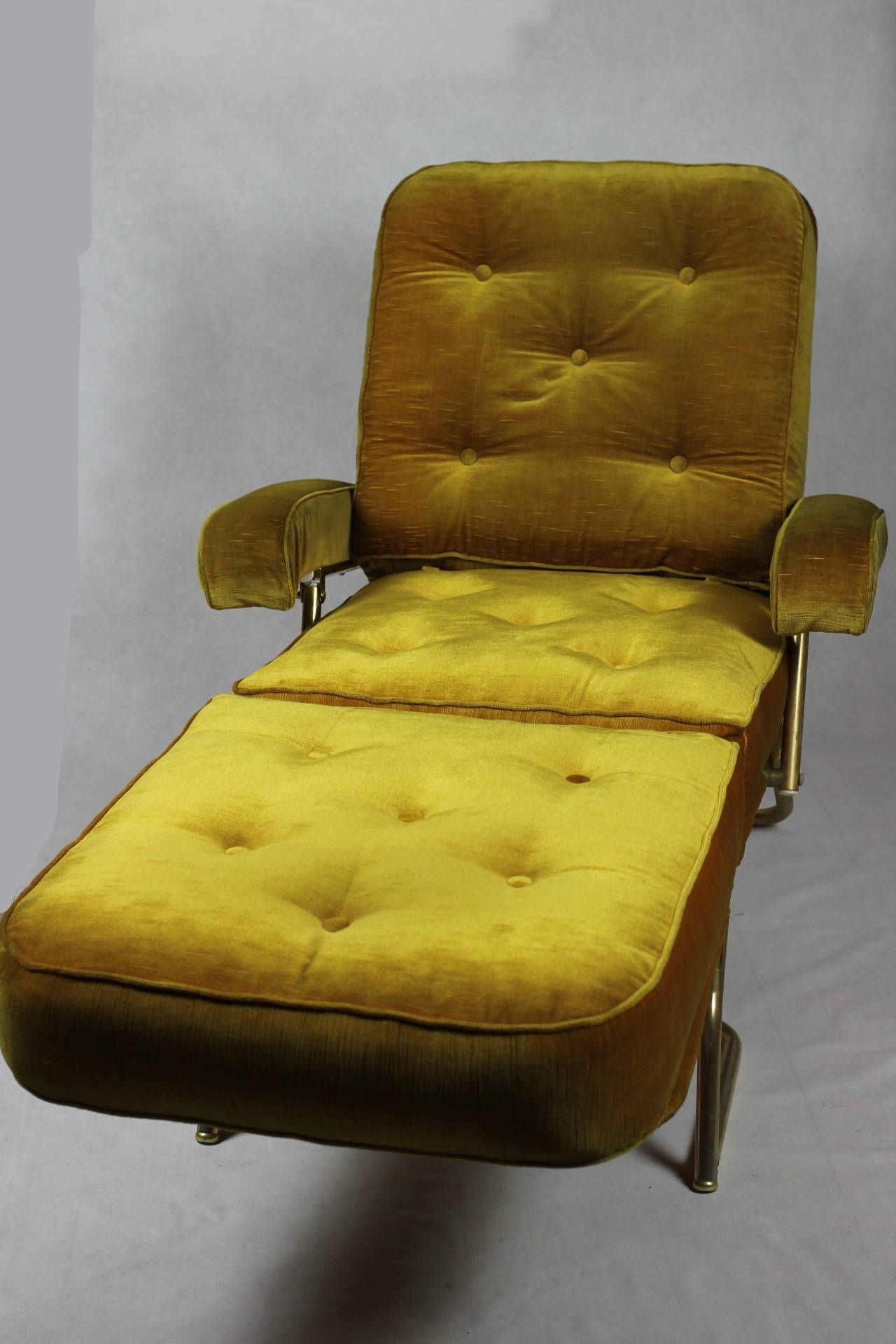 Widely Used French Seamed Sectional Sofas Oblong Mustard With French Designer Chaise Longue // 1970's Avacado Green (View 15 of 20)
