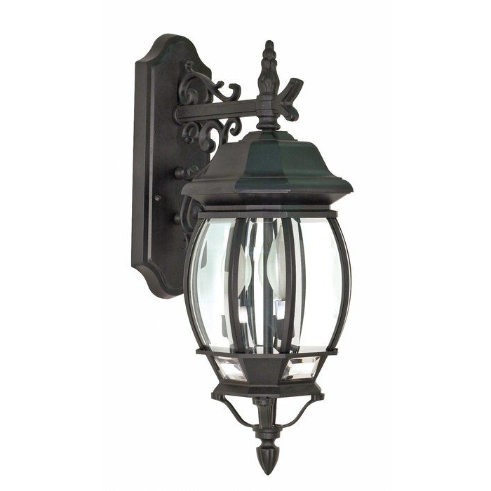 Widely Used Gillian 3 – Bulb Beveled Glass Outdoor Wall Lanterns For Sol 72 Outdoor Gillian 3 Light Outdoor Wall Lantern (View 19 of 20)