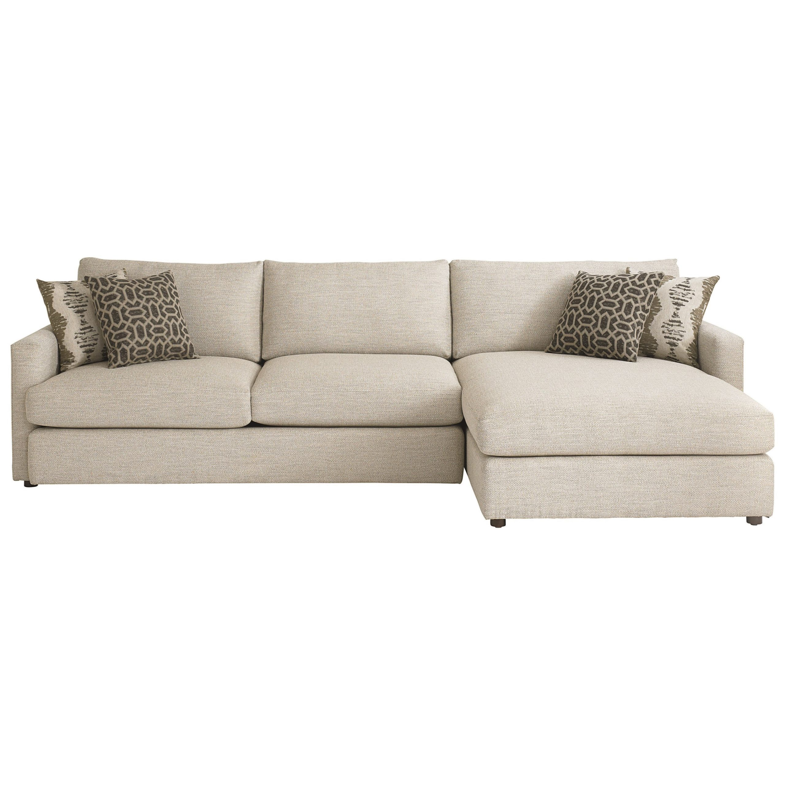 Widely Used Hannah Left Sectional Sofas Intended For Bassett Allure Contemporary Sectional With Left Arm Facing (View 12 of 20)