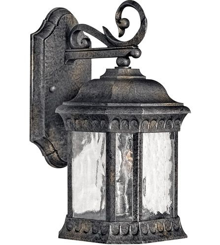 Widely Used Hinkley 1720bg Regal 2 Light 13 Inch Black Granite Outdoor With Regard To Rockefeller Black 2 – Bulb  Outdoor Wall Lanterns (View 6 of 20)