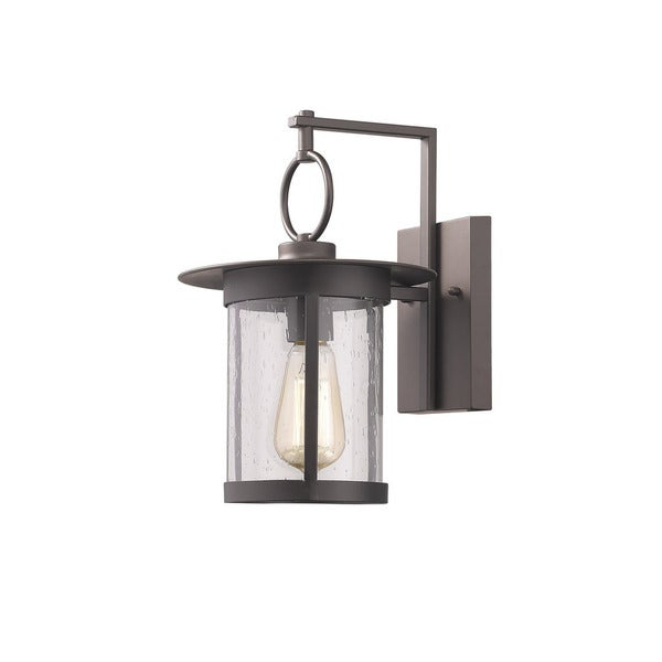 Widely Used Jordy Oil Rubbed Bronze Outdoor Wall Lanterns With 1 Light Oil Rubbed Bronze Outdoor Wall Lantern – Overstock (View 10 of 20)