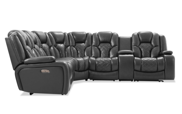Widely Used Panther Fire Leather Dual Power Reclining Sofas Pertaining To Panther Leather Power Reclining Sofa Console Loveseat (View 6 of 20)