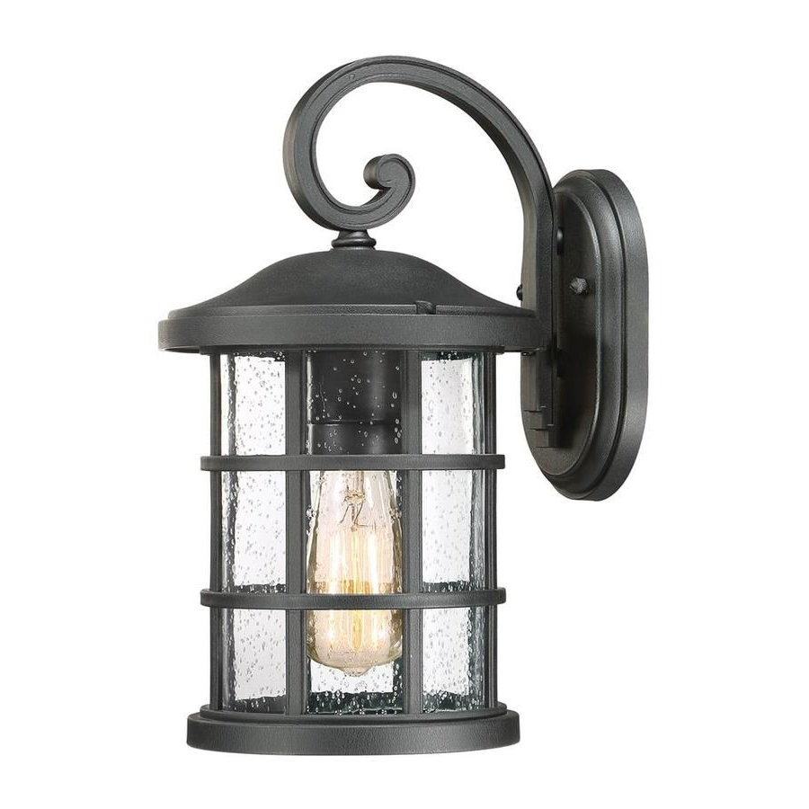 Widely Used Quoizel Crusade 14 In H Earth Black Medium Base (e 26 For Ainsworth Earth Black Outdoor Wall Lanterns (View 15 of 20)