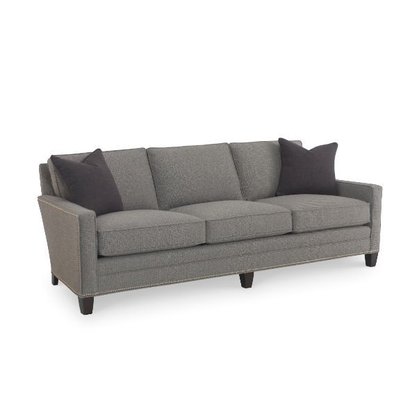 Widely Used Radcliff Nailhead Trim Sectional Sofas Gray In Maxwell Gray Sofa Nailhead Trim @ Saybrook Country Barn (View 1 of 20)