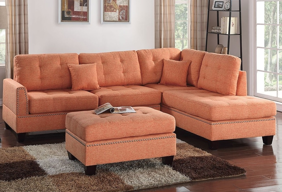 Widely Used Reversible 3pcs Sectional Sofa With 2 Accent Pillows F6506 With Regard To Clifton Reversible Sectional Sofas With Pillows (View 6 of 20)