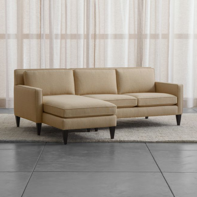 Widely Used Rochelle 2 Piece Right Arm Chaise Midcentury Modern With Regard To 2pc Burland Contemporary Chaise Sectional Sofas (View 12 of 20)