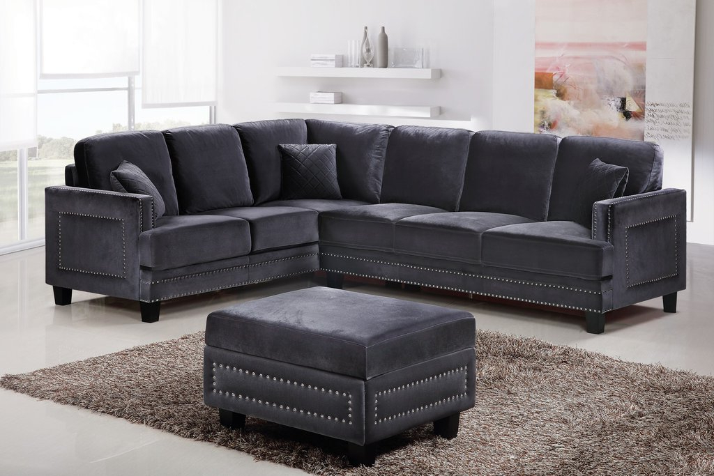 Widely Used Strummer Velvet Sectional Sofas Throughout Antique Of Red Velvet Sectional Sofa – Loccie Better Homes (View 9 of 20)