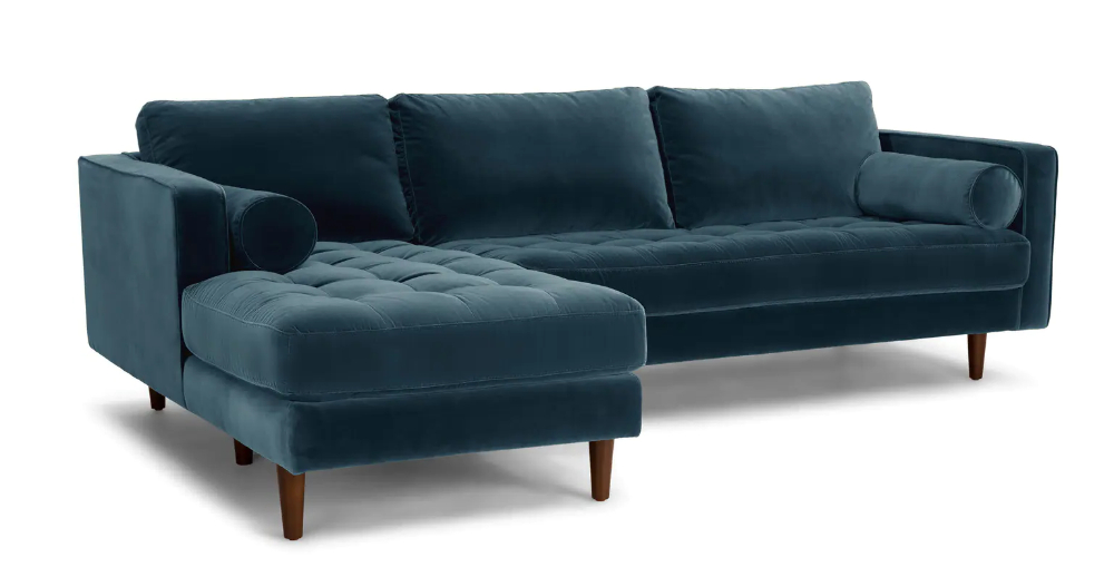 Widely Used Sven Pacific Blue Right Sectional Sofa (View 2 of 20)