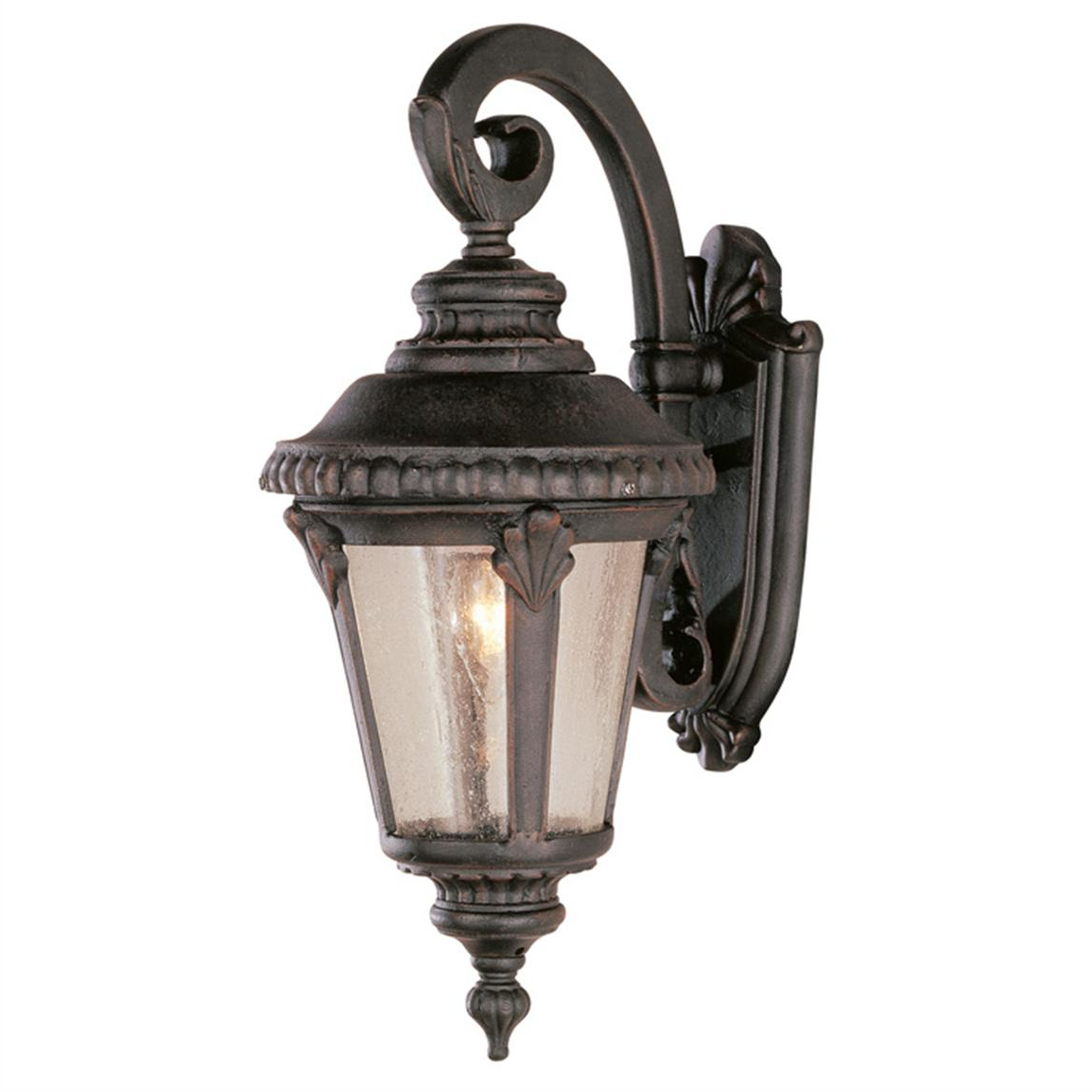 Widely Used Trans Globe Lighting 1 – Light Outdoor Rust Wall Lantern With Brookland Outdoor Wall Lanterns (View 13 of 20)