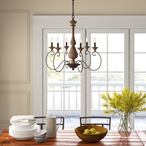 Widely Used Turcot 6 Light Candle Style Classic / Traditional Within Turcot Wall Lanterns (View 6 of 20)