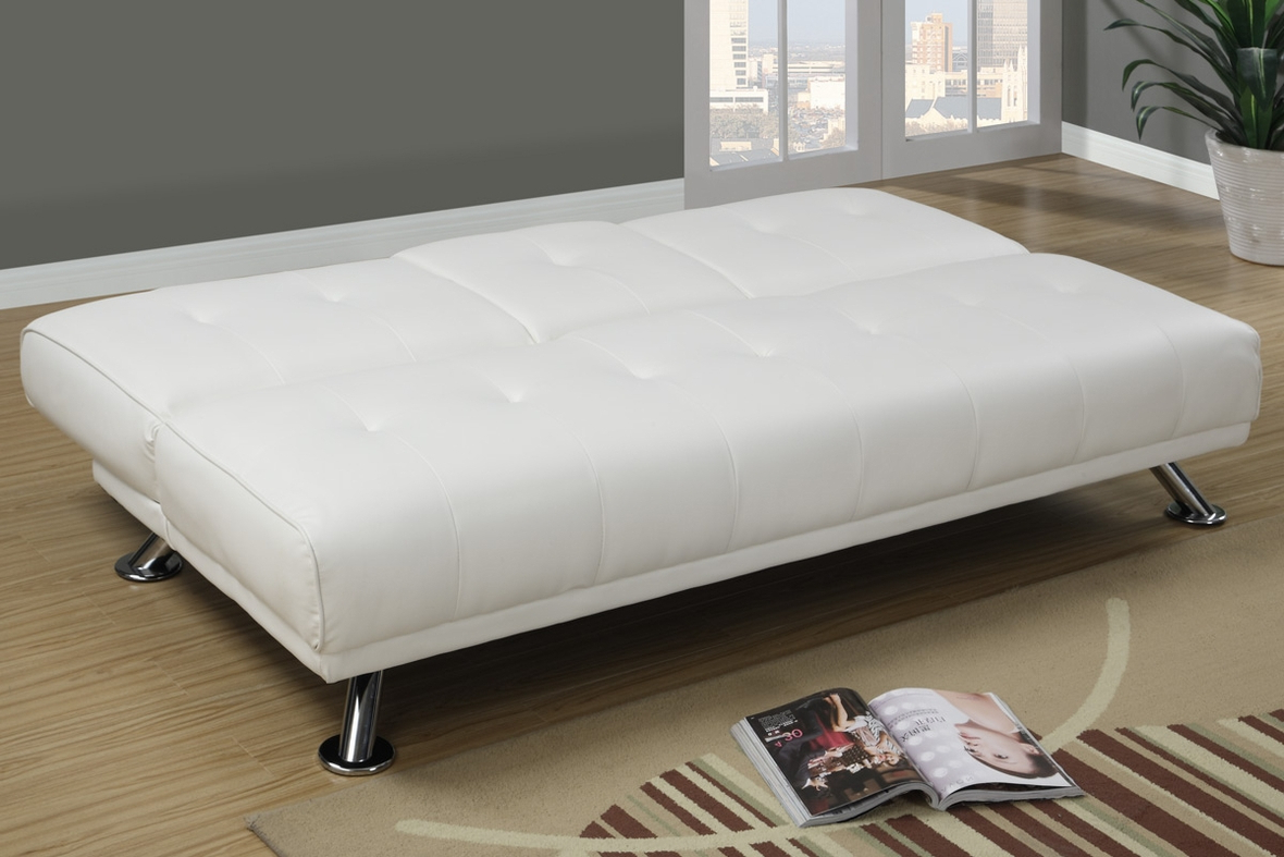 Widely Used White Leather Twin Size Sofa Bed – Steal A Sofa Furniture Inside Twin Nancy Sectional Sofa Beds With Storage (View 19 of 20)