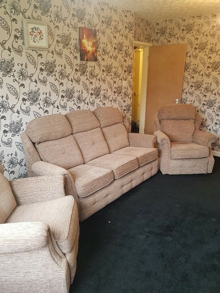 Wilton Fabric Sectional Sofas In Well Liked G Plan Wilton 3 Piece Suite Sofa Settee – Used But In An (View 15 of 20)