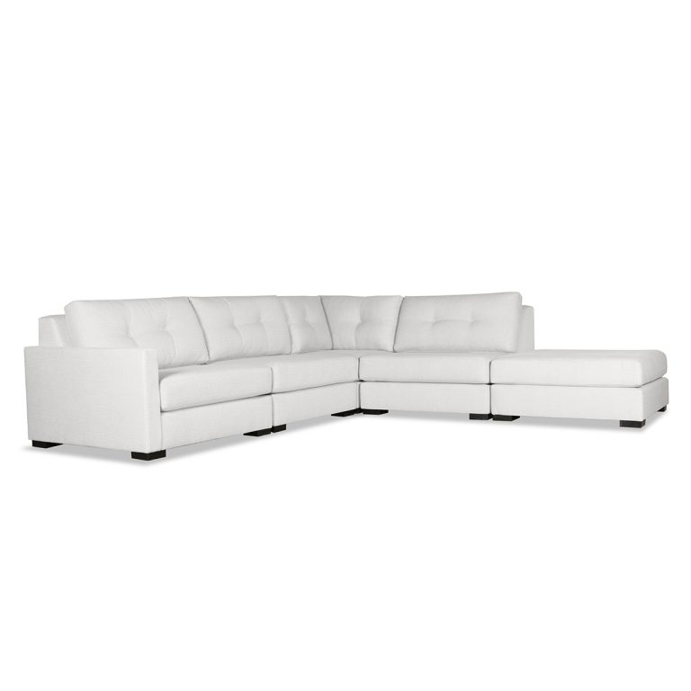 Wilton Fabric Sectional Sofas Within Well Known Wilton Buttoned Modular Sectional Right Arm L Shape Left (View 4 of 20)