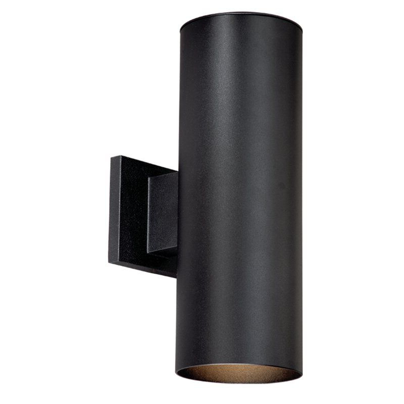 Featured Photo of Felsted Matte Black 2   Bulb Outdoor Armed Sconces