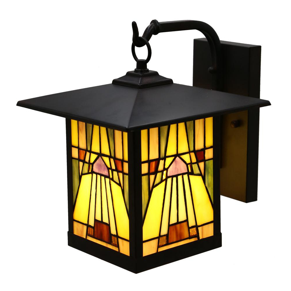 Wrentham Beveled Glass Outdoor Wall Lanterns Within Most Up To Date River Of Goods Pharoh 1 Light Bronze Outdoor Mission (View 2 of 20)