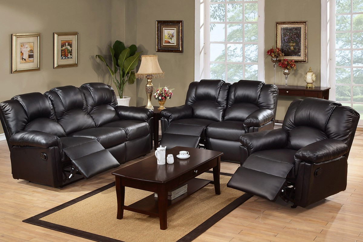 Wynne Contemporary Sectional Sofas Black For Preferred Black Leather Reclining Sectional Products – Homesfeed (View 19 of 20)