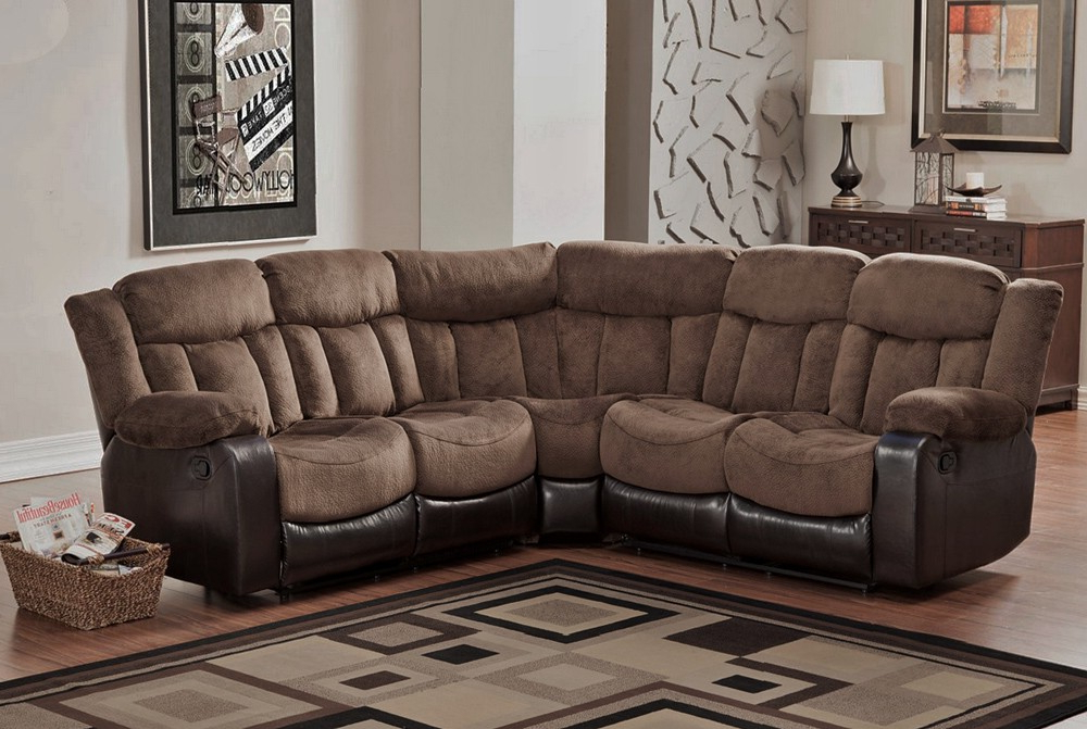 Wynne Contemporary Sectional Sofas Black With Regard To Most Recent Microfiber Reclining Sectional, Create So Much Coziness (View 20 of 20)