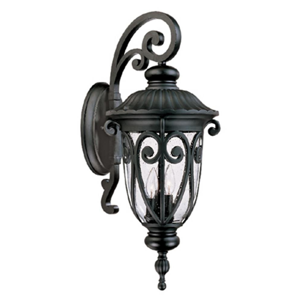 Y Decor Hailee 3 Light Matte Black Outdoor Wall Lantern Pertaining To 2018 Powell Outdoor Wall Lanterns (View 15 of 20)