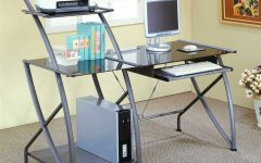 Glass and Metal Computer Desks