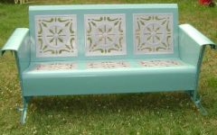 Metal Retro Glider Benches