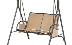 2-person Black Steel Outdoor Swings
