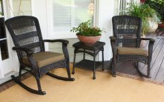 Wicker Rocking Chairs Sets