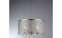 4-light Chrome Crystal Chandeliers