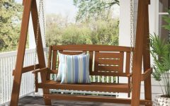 Hardwood Hanging Porch Swings with Stand