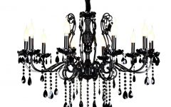 Black Glass Chandeliers