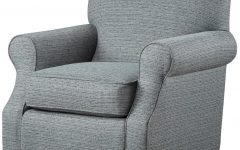 Umber Grey Swivel Accent Chairs