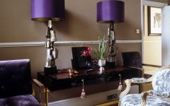 Purple Living Room Table Lamps