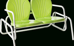 Metal Powder Coat Double Seat Glider Benches