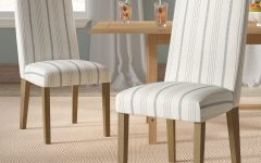 Bob Stripe Upholstered Dining Chairs (set of 2)