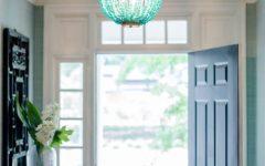 Turquoise Beaded Chandelier Light Fixtures