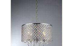 4 Light Chrome Crystal Chandeliers