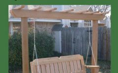 A4-ft Cedar Pergola Swings