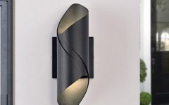 Chazz Integrated Led Outdoor Armed Sconces