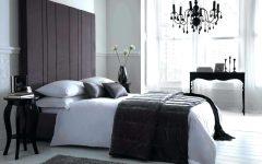 Black Chandelier Bedroom