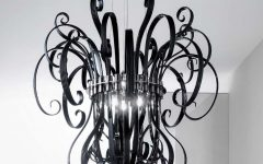 Black Contemporary Chandelier