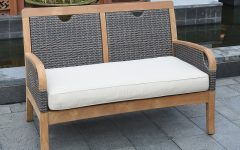 Mansfield Teak Loveseats With Cushion