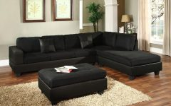 Black Leather Sectionals With Ottoman