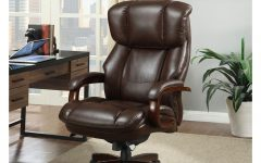 Brown Leather Executive Office Chairs
