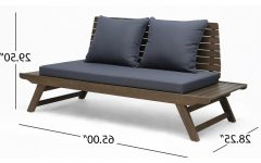 Bullock Outdoor Wooden Loveseats with Cushions