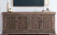 Reclaimed Pine 4-door Sideboards