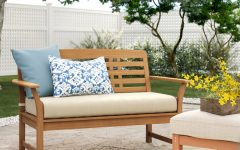 Calila Teak Loveseats With Cushion