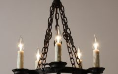 Cast Iron Antique Chandelier