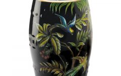 Maci Tropical Birds Garden Stools