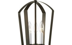 Chauvin 3-Light Lantern Geometric Pendants